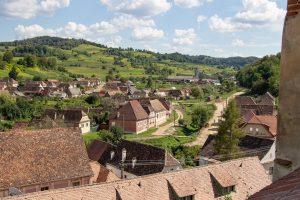 view over birtan village transylvania story tour