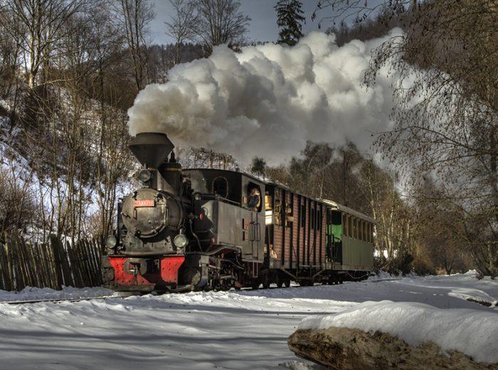 Mocanita Steam Train Maramures Viseu